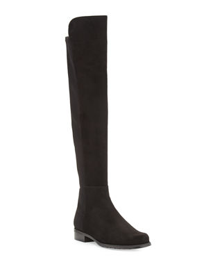 Stuart Weitzman 50/50 Suede Over-the-Knee Boot