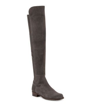 accd1819d0b Stuart Weitzman 50 50 Suede Over-the-Knee Boot