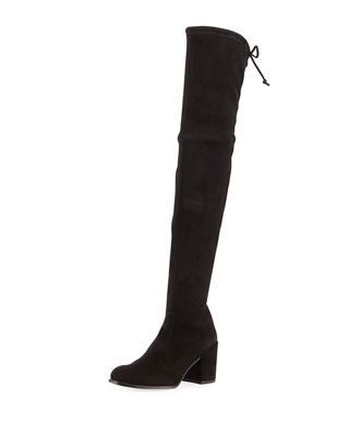 Image 1 of 4: Tieland Suede Over-the-Knee Boot