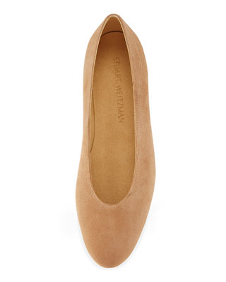 Image 3 of 3: Chicflat Suede Almond-Toe Flat