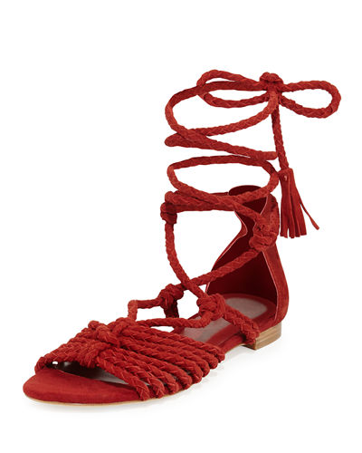 Falk Lace-Up Flat Sandal