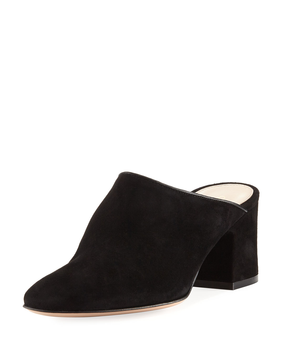 Suede 60mm Block-Heel Mule