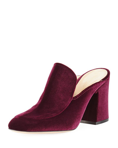 Velvet Notched 85mm Loafer Mule