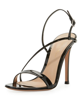 Image 1 of 4: Manhattan Strappy Patent 105mm Sandal