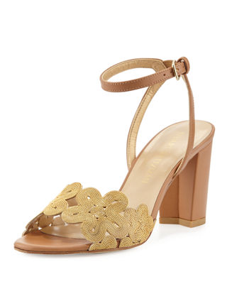 Stuart Weitzman Chainreaction Floral Chain City Sandal