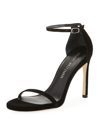 Image 1 of 4: Nudistsong Suede Ankle-Wrap Sandal