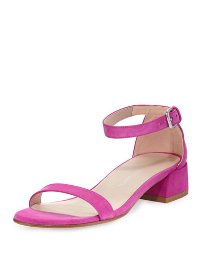 Nudistjune Suede 40mm Sandal