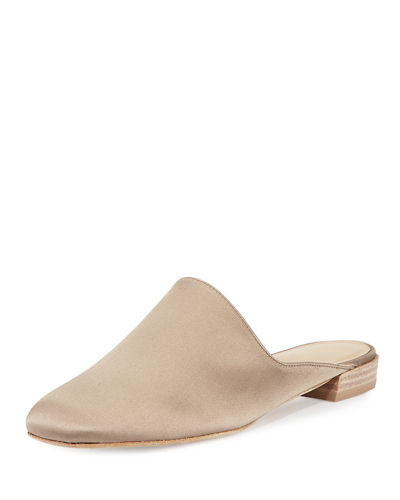 Mulearky Satin Slip-On Flat Mule