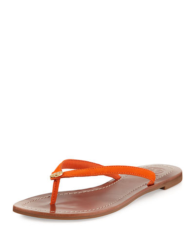 Tory Burch Terra Flat Leather Thong Sandal