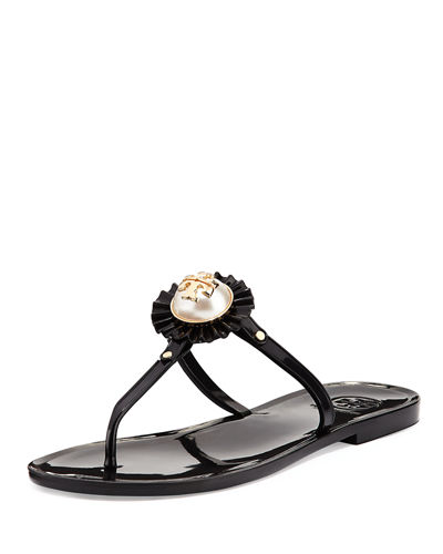 486fef9847b Tory Burch Melody Pearly Flat Thong Sandal from Neiman Marcus - Styhunt