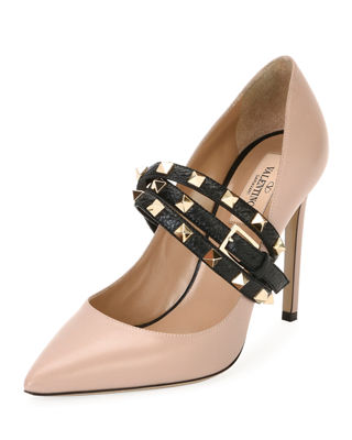 Rockstud Wrap Leather Pump