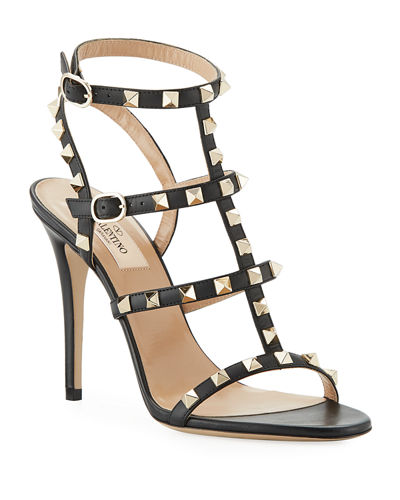 Rockstud 105mm Caged Leather Sandal
