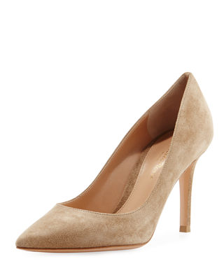 Image 1 of 3: Gianvito 85 Suede Point-Toe 85mm Pump