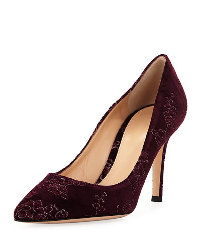 Gianvito Rossi Velvet Point-Toe 85mm Pump
