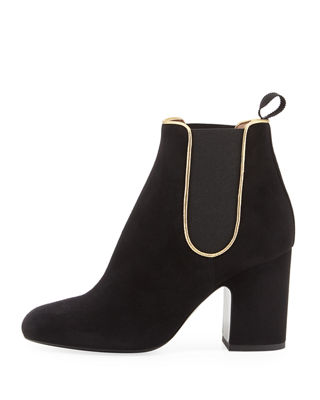 Image 2 of 4: Gored Suede 70mm Bootie
