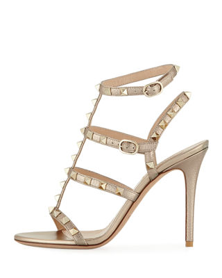 Image 2 of 4: Rockstud Metallic Leather 105mm Sandal