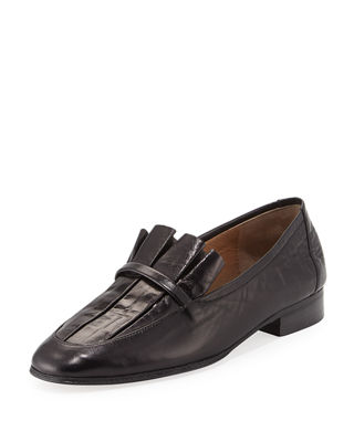 Adam Pleated Leather Loafer