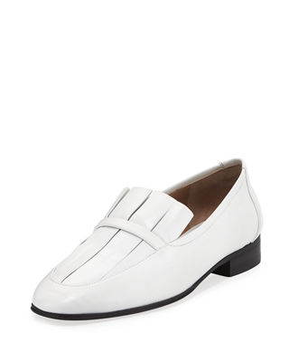 The Row Leather Round-Toe Loafers