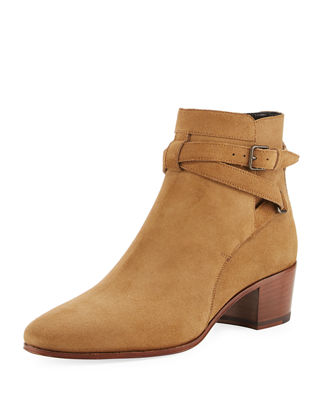 Rock Blake Suede Ankle-Wrap Bootie