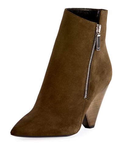 Niki Asymmetric Suede Ankle Boot