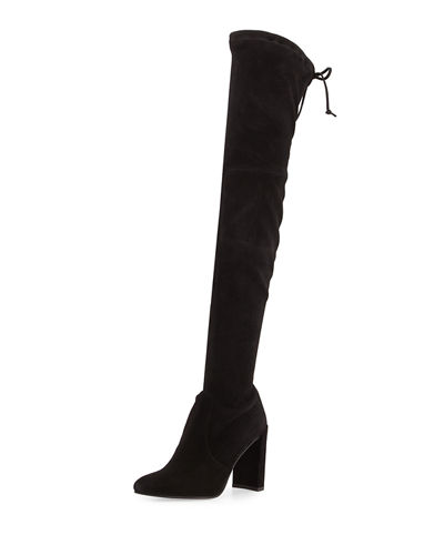 Stuart Weitzman Highchamp Suede Over-the-Knee Boot and Matching