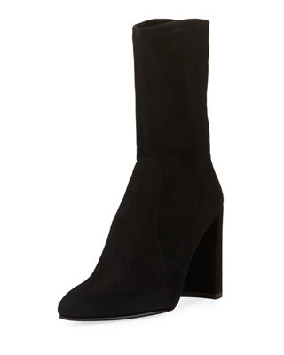 Image 1 of 5: Clinger Stretch-Suede Bootie