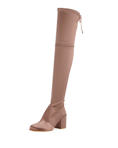 Tieland Satin Over-the-Knee Boot