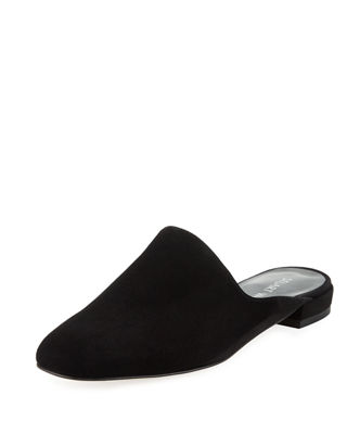Mulearky Suede Flat Mule