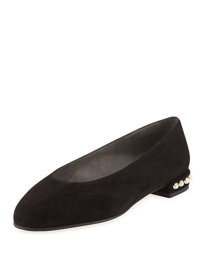 Chicpearl Suede Ballet Flats