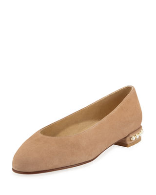 Chicpearl Suede Ballerina Flat