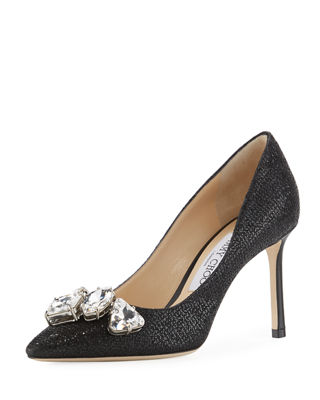 Jimmy Choo Marvel Metallic Crystal-Toe Pump