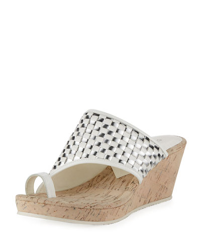 Donald J Pliner Gyersp Woven Toe-Ring Wedge Sandal