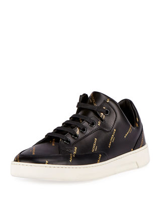 Balenciaga Logo-Print Mid-Top Lace-Up Sneaker