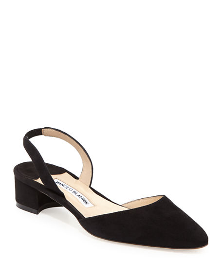 Manolo Blahnik Slingback Velvet Pumps extremely outlet websites buy cheap tumblr yLrgj