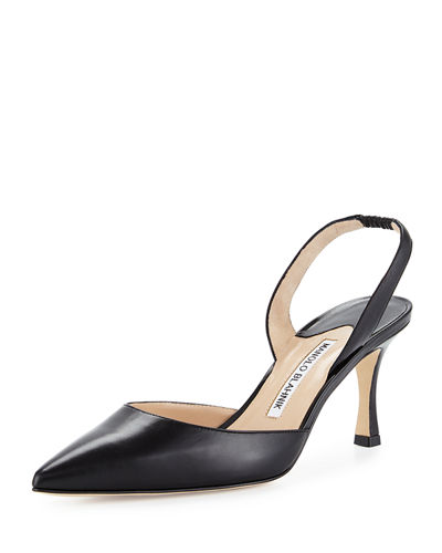 Carolyne Leather Mid-Heel 70mm Halter Pump