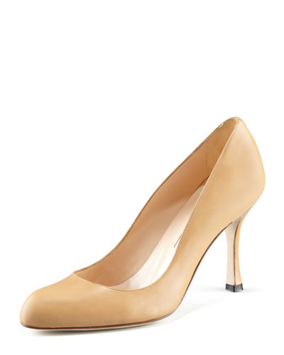 Fokapump Round-Toe Leather Pump