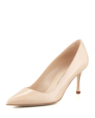 Manolo Blahnik BB 70mm Patent Leather Pump (Pin