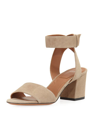 Paris Suede Ankle-Wrap Sandal