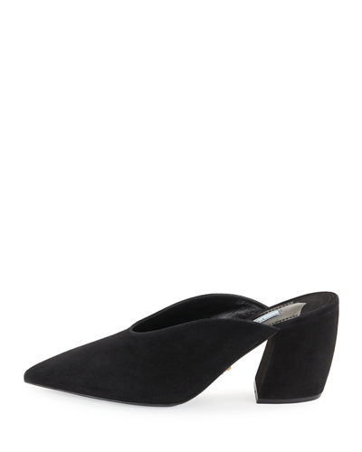 Point-Toe Suede Mule