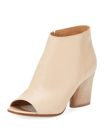 Maison Margiela Narrow Peep-Toe Leather Bootie