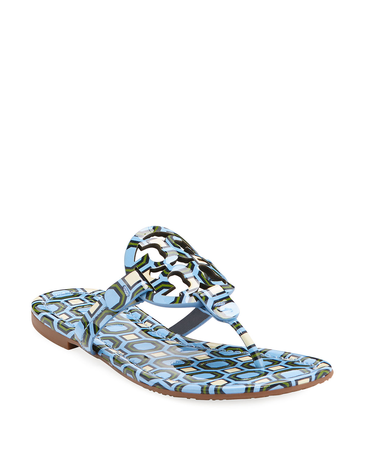 47ad0ef07c07 Tory Burch Women S Miller Patent Leather Thong Sandals In Light Chambray