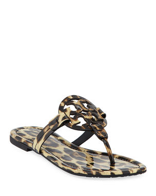 3bfaa0396d4421 Tory Burch Miller Printed Flat Thong Sandals