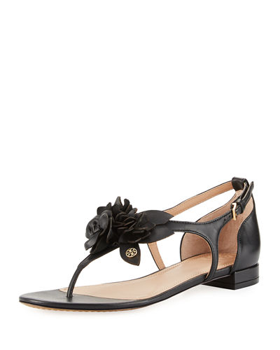 Tory Burch Blossom Flat Floral Sandal