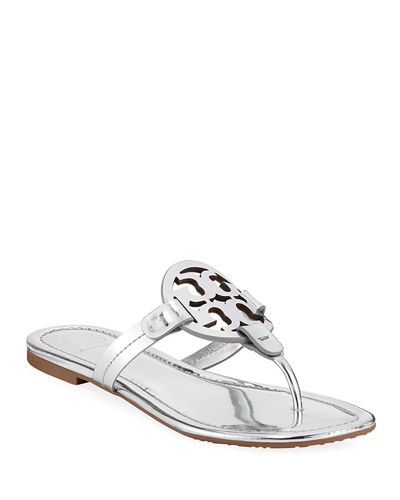 Miller Metallic Flat Slide Sandals