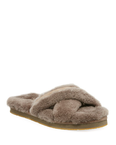 Abela Shearling & Suede Slipper