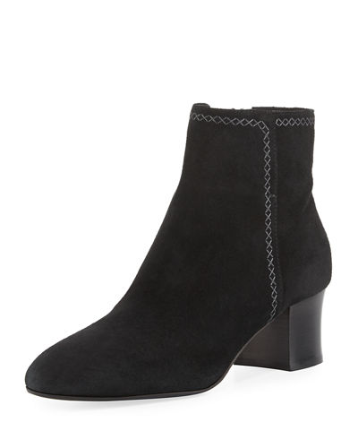 Florine Suede Zip Ankle Boot