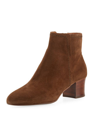Aquatalia Florine Suede Zip Ankle Boot
