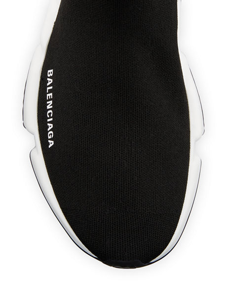 Image 3 of 3: Balenciaga Speed Stretch-Knit High-Top Trainer