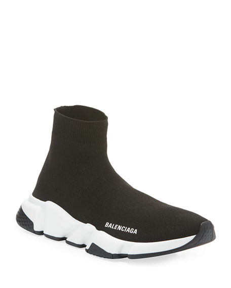 Image 1 of 3: Balenciaga Speed Stretch-Knit High-Top Trainer