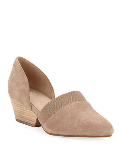 Hilly Demi-Wedge Suede Pump